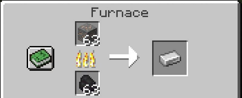 Smelting iron ore in a furnace (Image via Minecraft station)