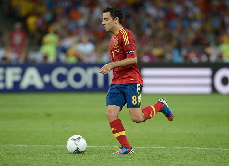 Xavi led Spain