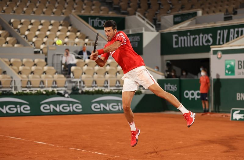 Novak Djokovic is pleased with his form going into the semifinal
