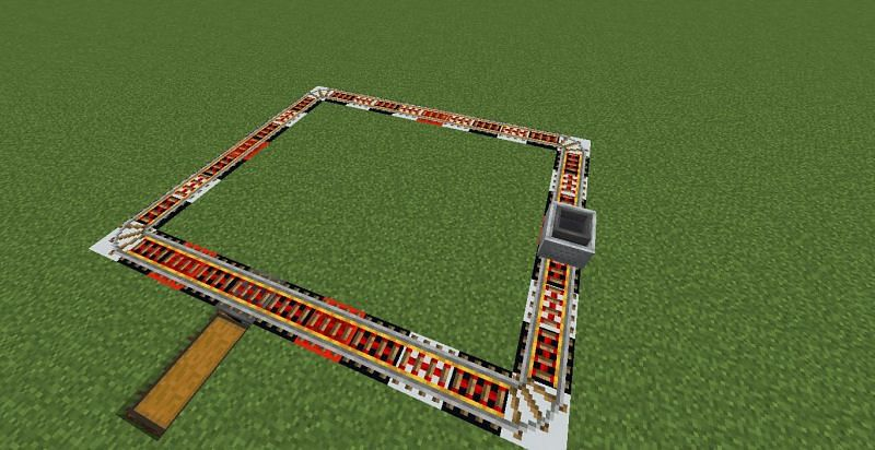 Collection system (Image via Minecraft)