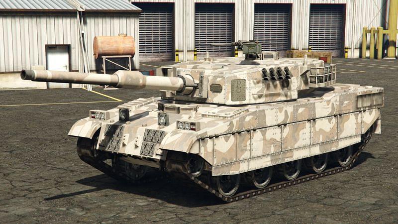 The Rhino, as it appears in GTA 5 (Image via GTA Wiki)