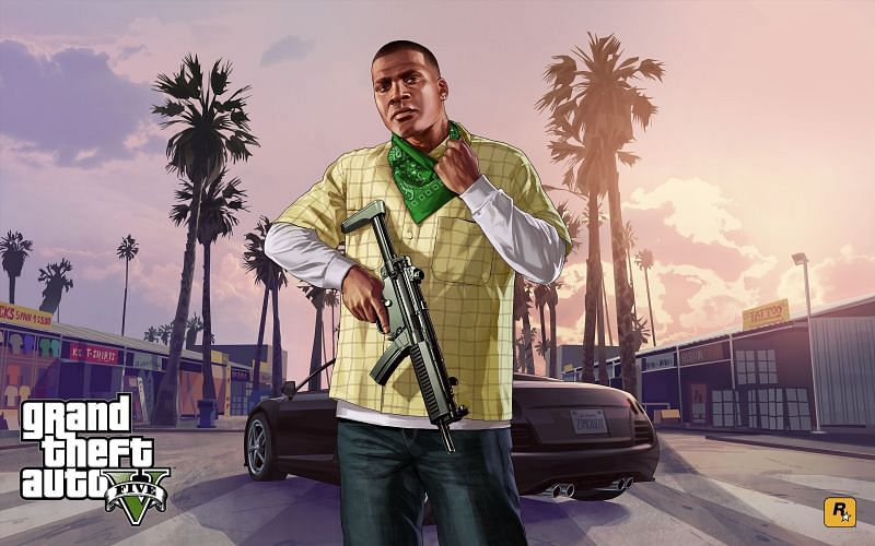 GTA 5 will be coming to PS5 later this year (Image via WallpaperAccess)