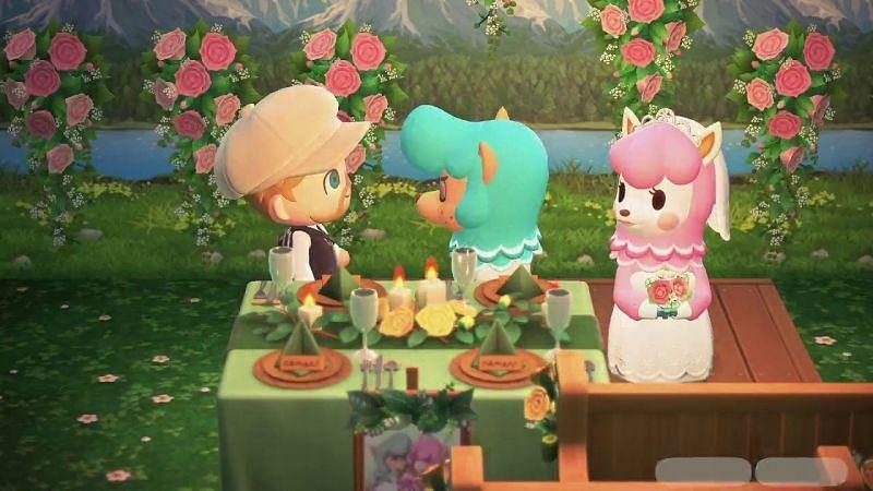 It is wedding season for Animal Crossing players. Image via YouTube