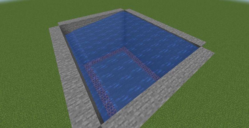 Flowing water (Image via Minecraft)