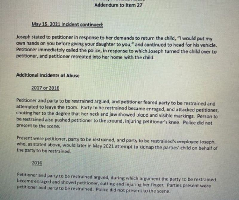 Court reports detailing Landon's alleged physical abuse 2/5 (Image via Twitter)