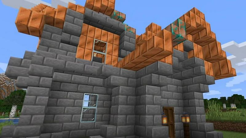 Copper roof (Image via Mojang)