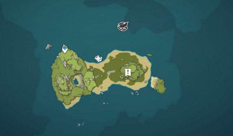 Minacious Isle mural location (image via Genshin Impact)