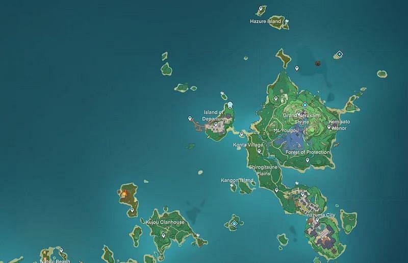 East Inazuma map (image via Genshin Intel)