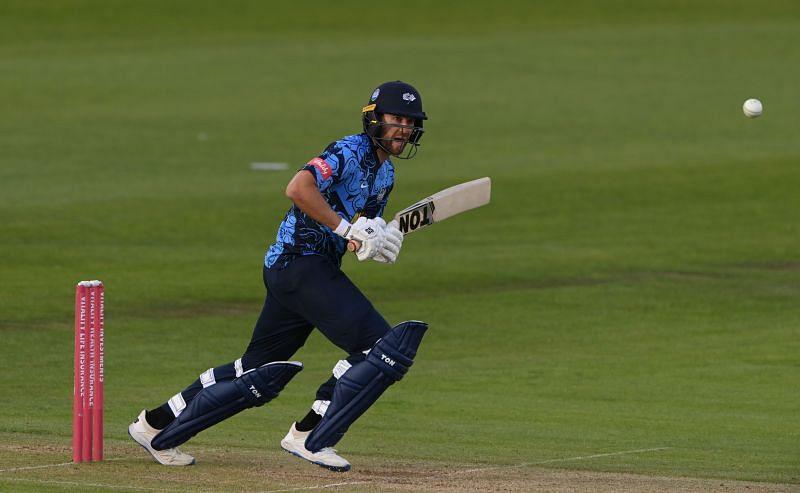 Malan in action in Durham Cricket v Yorkshire Vikings - Vitality T20 Blast