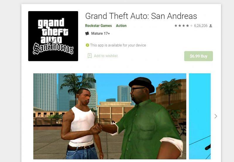 GTA San Andreas on the Google Play Store