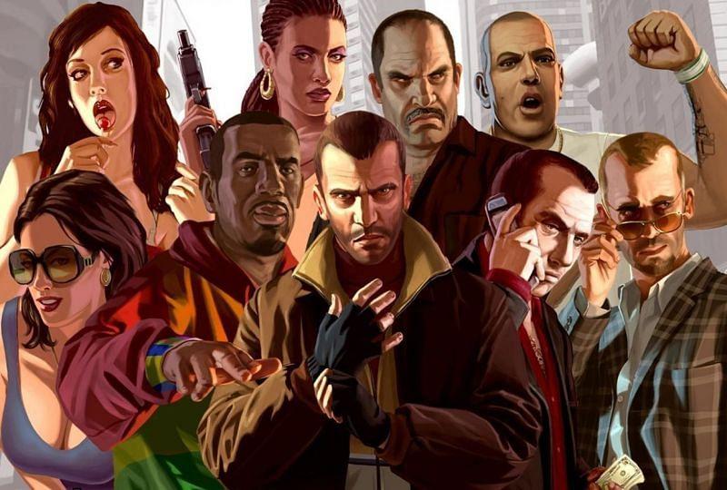 Certains personnages de GTA 4 (Image via Rockstar Games)