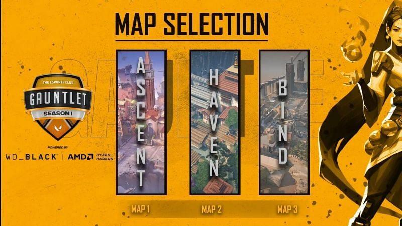 7SINS vs Godlike Esports Selected Maps (Image via YouTube/The Esports Club)