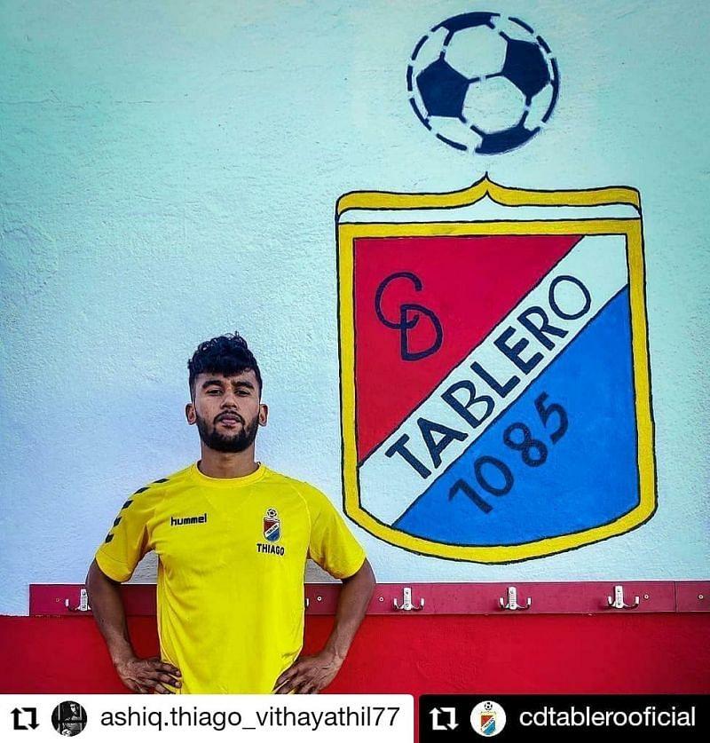 CD Tablero defender Ashiq Vithayathil