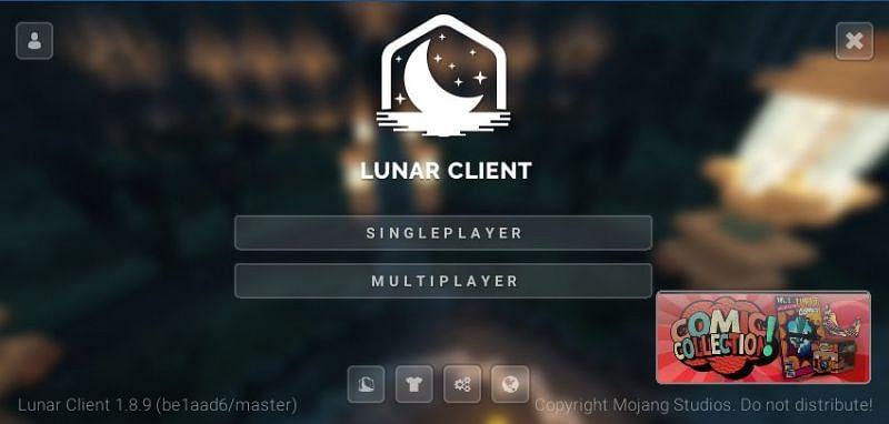 Als alles tot nu toe correct is gedaan, worden spelers bij de lancering begroet met dit maanscherm