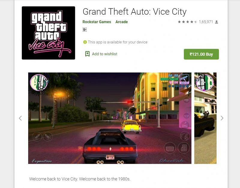Android gamers can download GTA Vice City from the Google Play Store