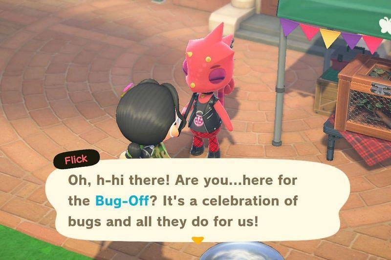 Bug-Off event in Animal Crossing (Image via Polygon)