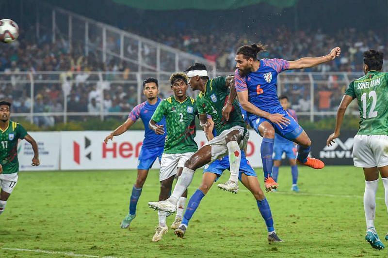 Adil Khan scored the equalizer for India against Bangladesh