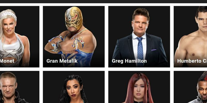 Greg Hamilton with others on the WWE Superstars page