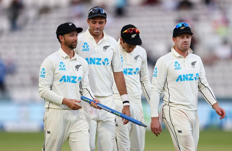 The first Test between New Zealand and England ended in a draw.