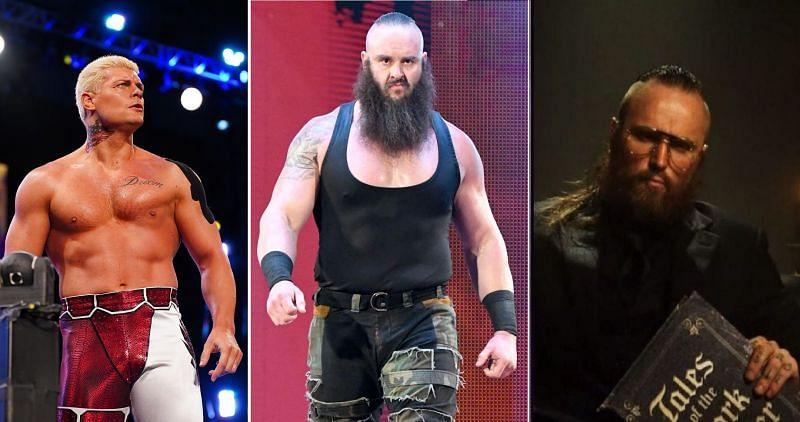 Cody, Braun Strowman, and Aleister Black