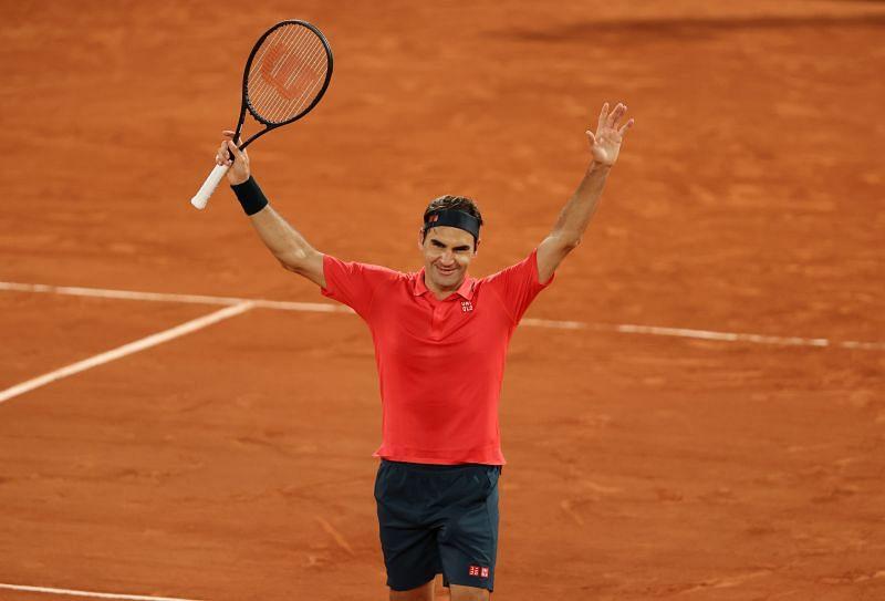 Roger Federer after beating Dominik Koepfer