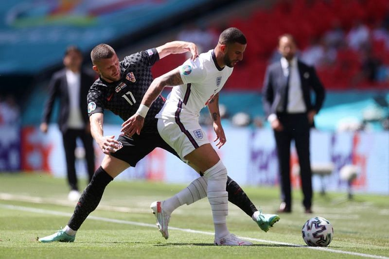 Kyle Walker is the most experienced player in the England squad.