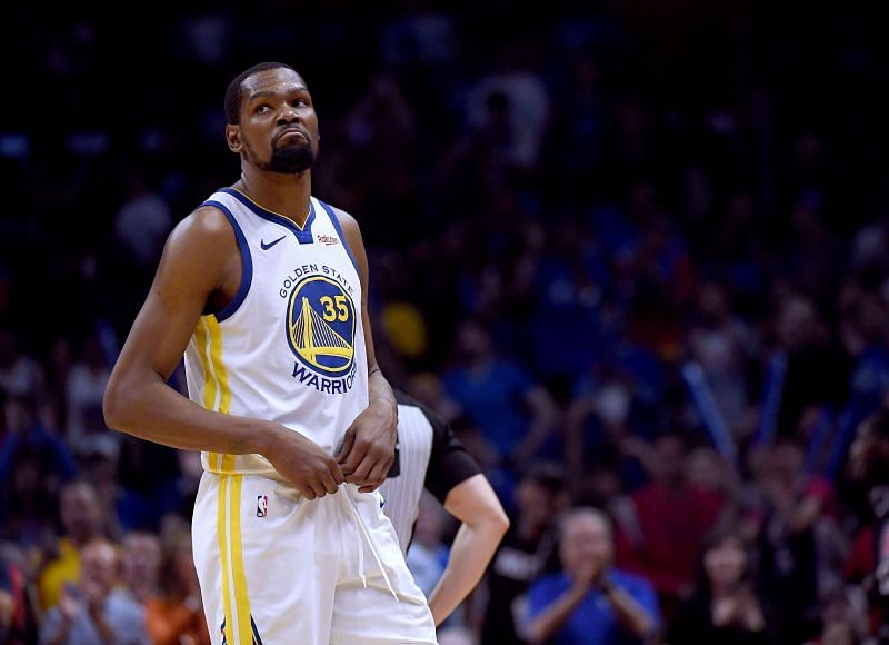 Kevin Durant with the Golden State Warriors against the LA Clippers