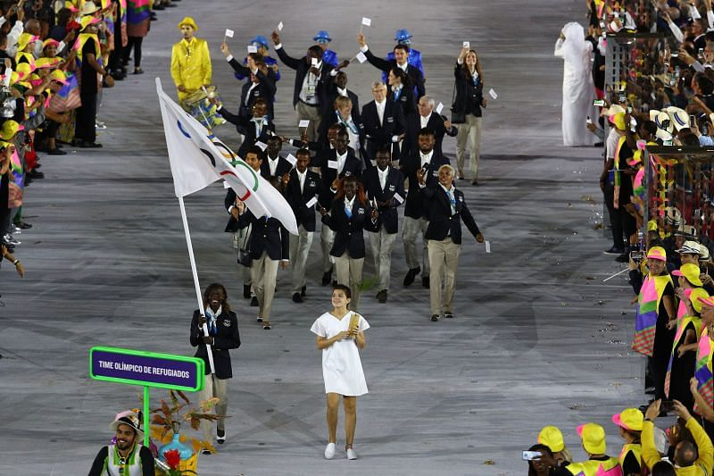 First Refugee Olympic Team at the 2016 Rio Olympics.