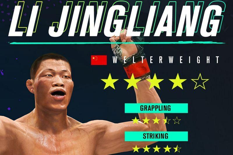UFC welterweight Li Jingliang has been added to UFC 4. (image credits: @EASPORTSUFC via Twitter)