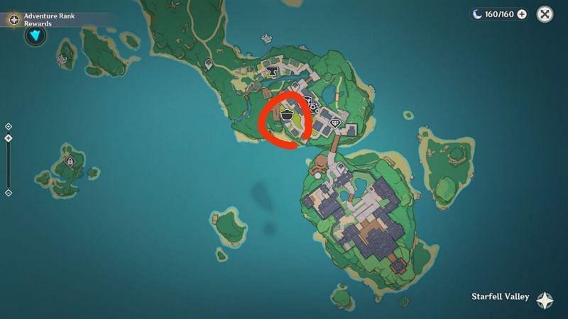 Inazuma tea house location in Genshin Impact (image via TZ)