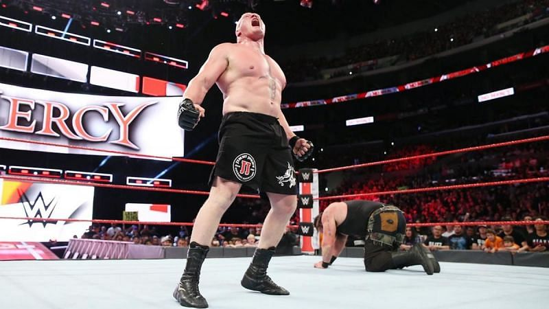 Brock Lesnar defeated Braun Strowman with one F-5 at No Mercy 2017
