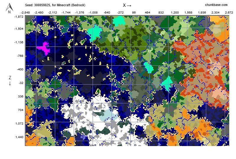 Seed map (Image via u/SnoverMC on reddit)
