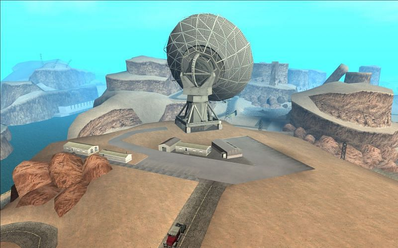 The Big Ear is an unnoticed area in GTA San Andreas(Image via GTA Wiki - Fandom)