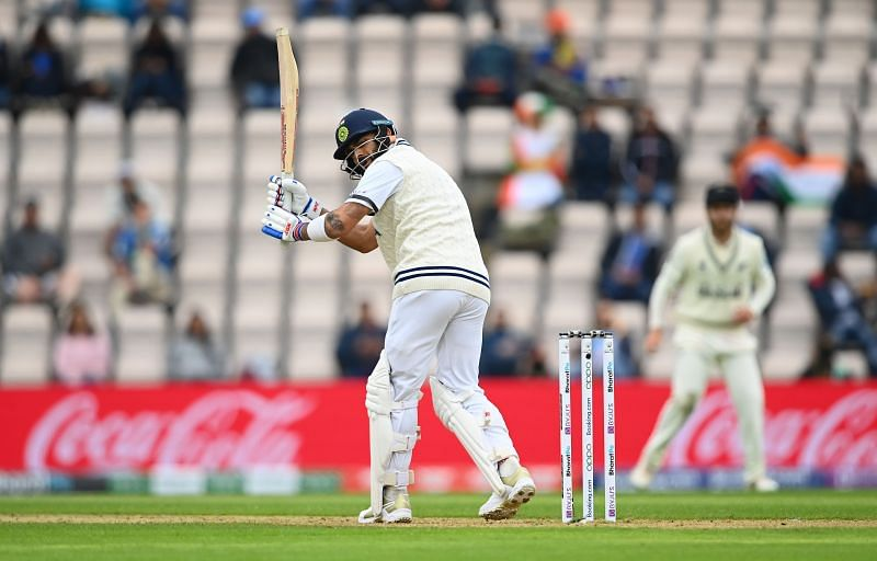 Virat Kohli batting during Day 2 of the World Test Championship (WTC) final in Southampton. Pic: Getty Images
