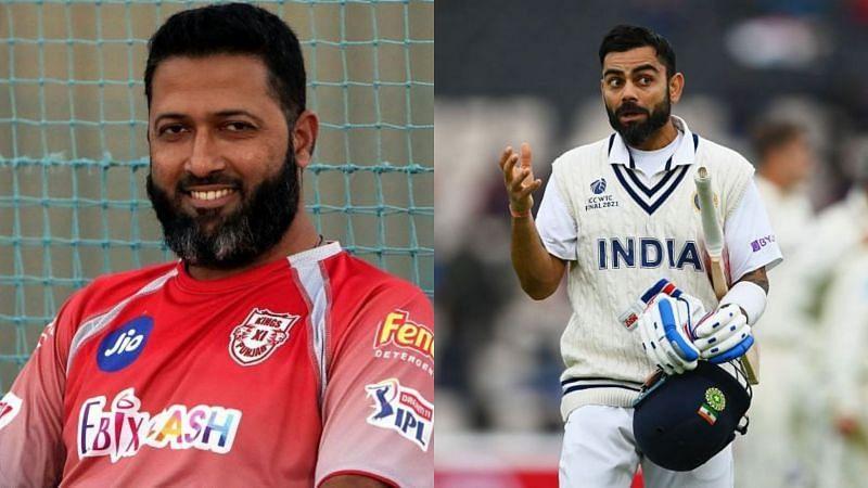 Wasim Jaffer (L) and Virat Kohli