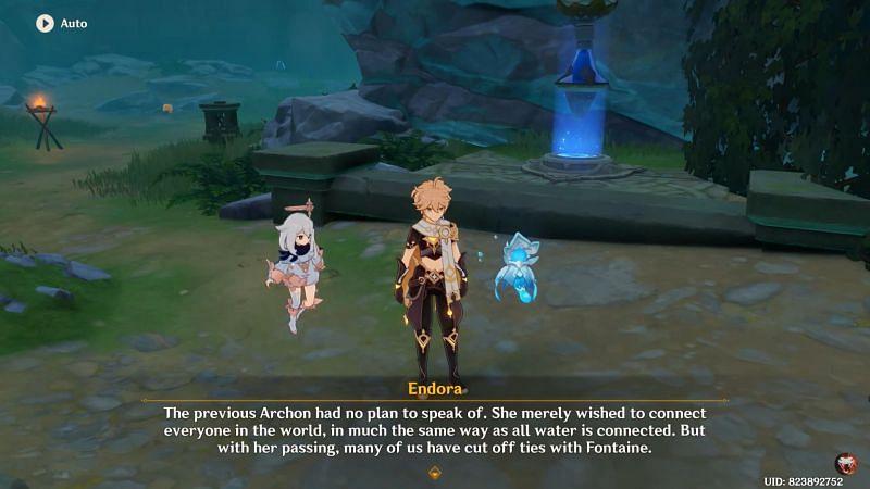 La mascota de Oceanid, Endora habla sobre Fontaine (Imagen a través de Jazzy Viper)