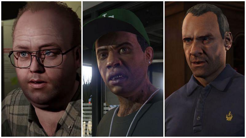 GTA 5 has a memorable cast of characters (Images via gta.fandom.com)