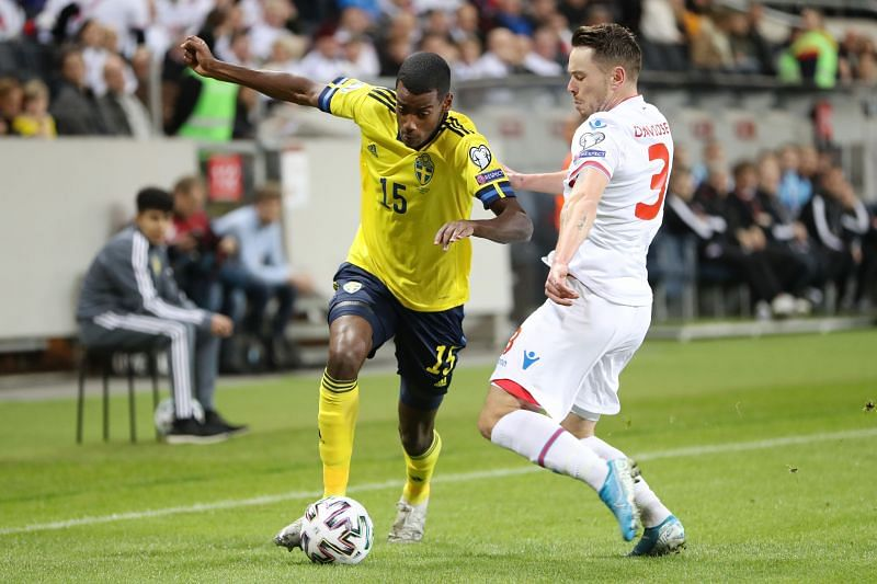 Sweden and Real Sociedad attacker Alexander Isak(left) will be a goal-threat during the Euro 2020