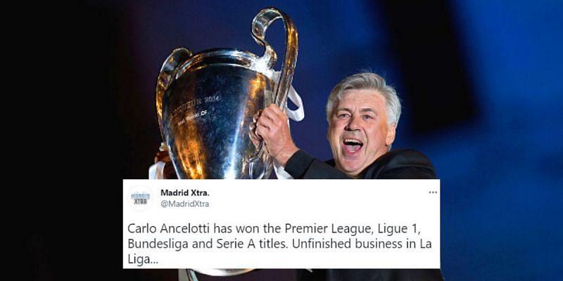 Real Madrid have appointed Carlo Ancelotti as Zinedine Zidane's successor