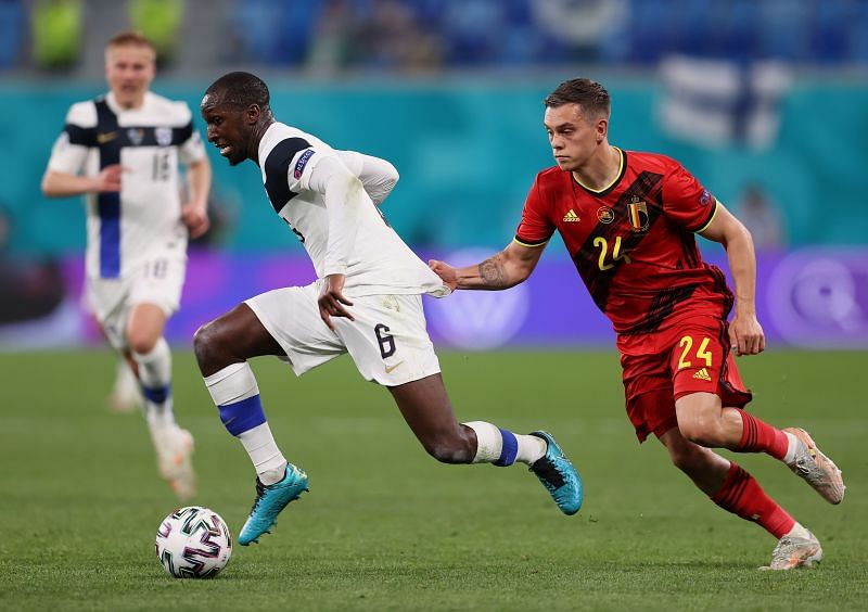 Leandro Trossard In Action For Belgium Against Finland