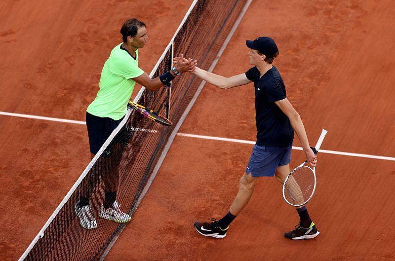 Rafael Nadal bageled Jannik Sinner in the third set