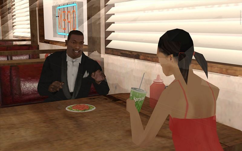 Carl Johnson can have multiple girlfriends in the course of the GTA San Andreas story (Image via Pinterest)