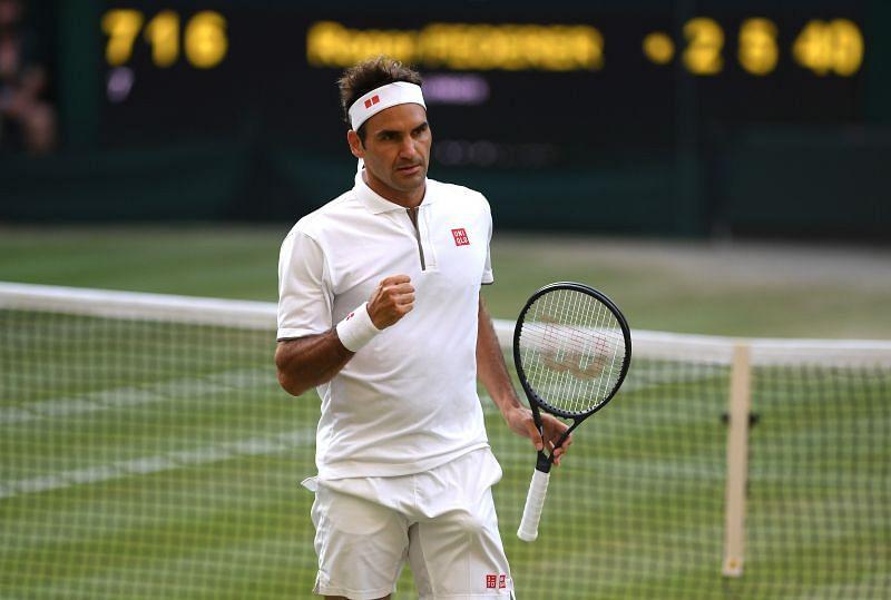Roger Federer at Wimbledon 2019