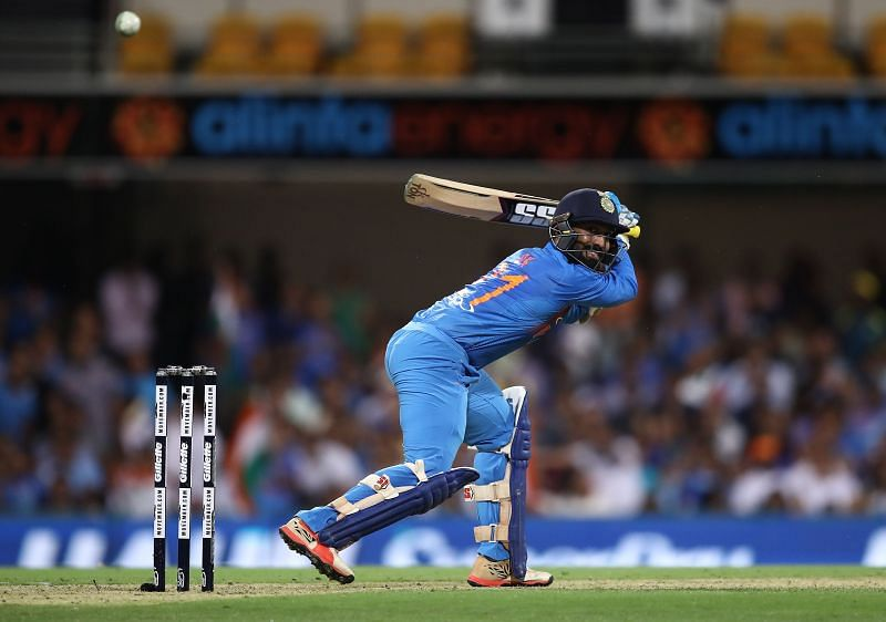 Dinesh Karthik in action during a T20I between Australia and India