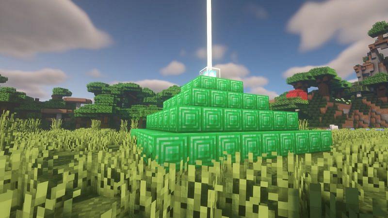 एमराल्ड लाइटहाउस (Minecraft के माध्यम से छवि)