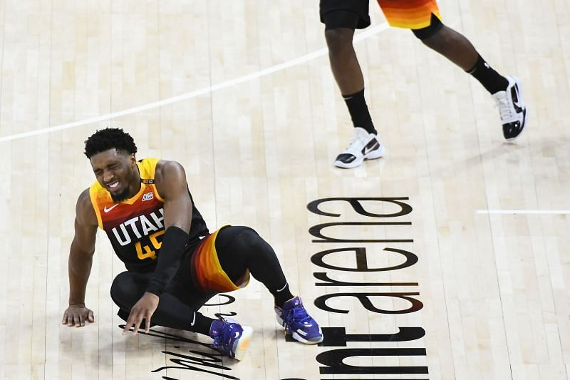 Donovan Mitchell appeared to tweak his ankle injury in game two against the LA Clippers