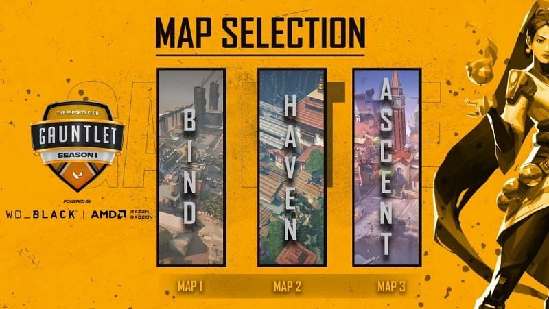 Team Moon vs Force One Esports Selected Maps (Image via YouTube/The Esports Club)