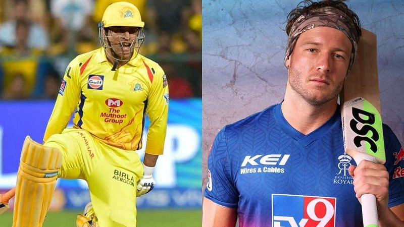 MS Dhoni (L) and David Miller