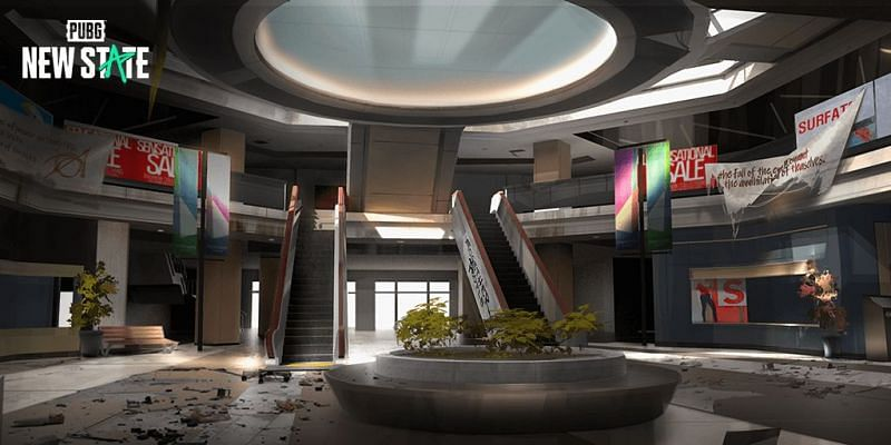 The Mall is one of the locations that will be available in PUBG New State