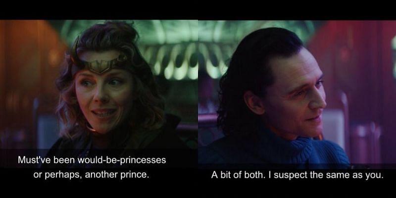 Loki and Sylvie sexuality revelation in Episode 3. Image via: Disney+/Marvel